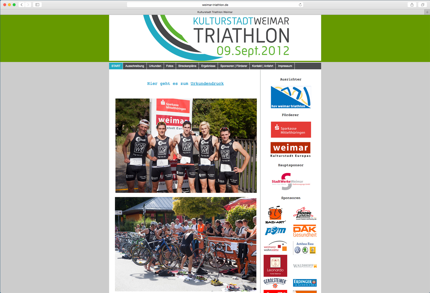 Weimar Triathlon Website